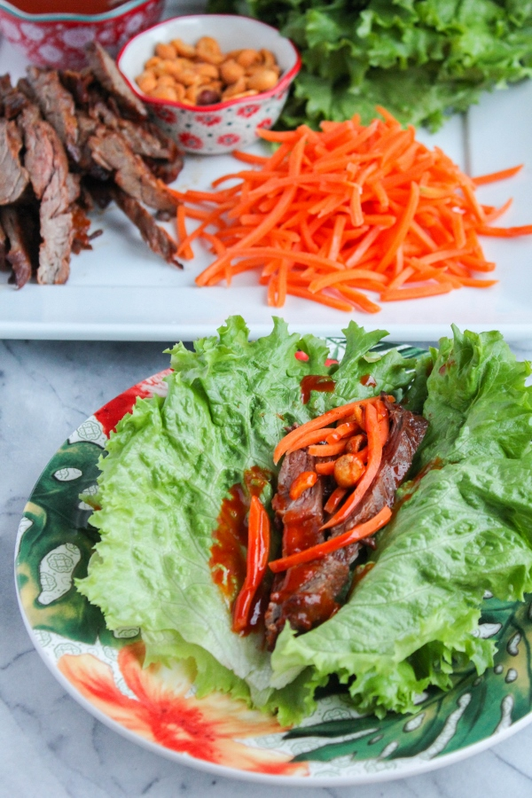 These Asian Steak Lettuce Wraps are such a great weeknight meal! Easy to make and loaded with flavor, they will quickly become a family favorite.