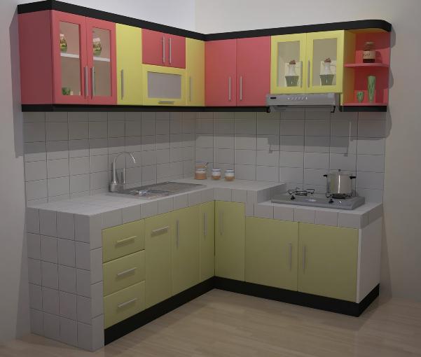 dapur minmalis bentuk l