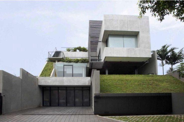 Desain Rumah Split Level Minimalis Modern Elegan