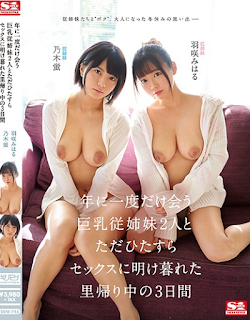SSNI-745 Three Days During Homecoming Just After Sex With Two Busty Cousins ​​Who Meet Only Once A Year Miharu Hanezaki Nogi Hotaru