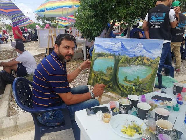 بلدية السكسكية بالحنوب اللبناني تكرم الفنان عصام منانا على مشاركته الرسم تشجيعا للمواهب