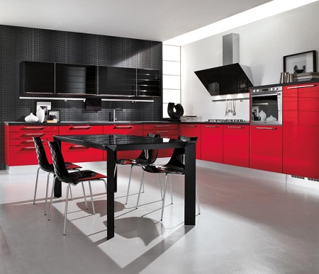 News For You: Modern and Luxury Kitchen Colors Design - Black And Red Kitchen