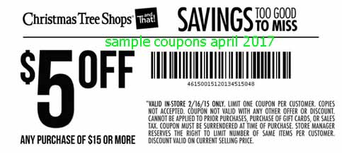 Printable Coupons 2019: Christmas Tree Shops Coupons