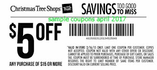 free Christmas Tree Shops coupons april 2017