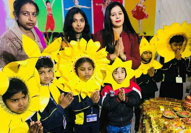 Celebration of Basant Panchami celebrated by Happy Kids Play School