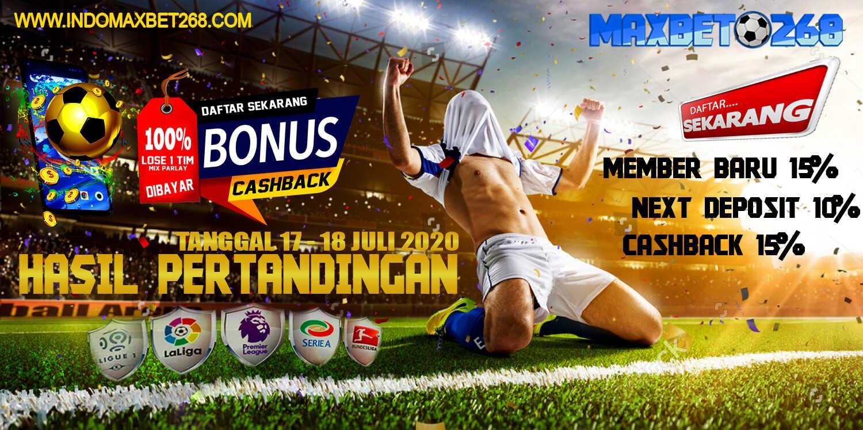 Hasil Pertandingan Sepakbola Tanggal 17 - 18 Juli 2020