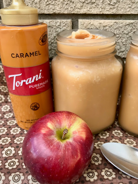 Two ingredients are all it takes to make delicious and refreshing autumn caramel apple cider slushies!