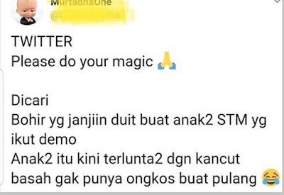 Niat buzzer ingin menjelekkan anak STM - pustakapengetahuan.com
