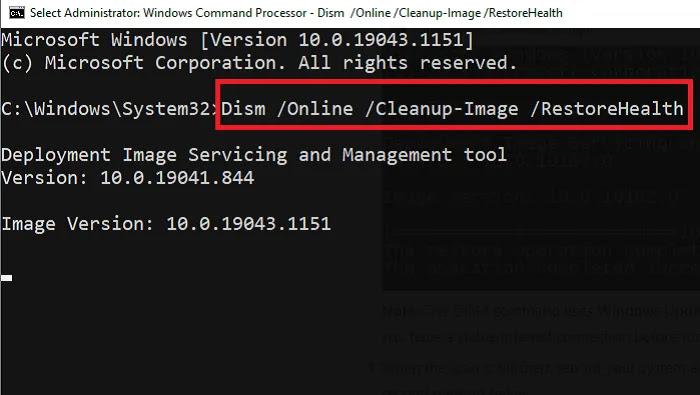Dism Command Prompt