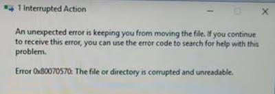 مشكلة عدم اكتمال نقل الملفات من الفلاشة لسطح المكتب