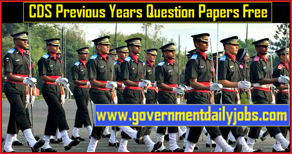 UPSC CDS Previous Year Question Paper Download Free