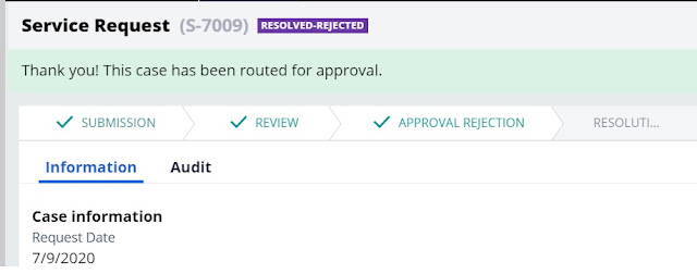 cascading approval with an authority matrix - Reject
