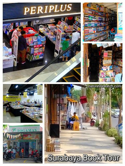 Toko Buku Periplus di Galaxy Mall, Togamas di Jalan Semarang, Toko-toko Buku Bekas di Jalan Semarang