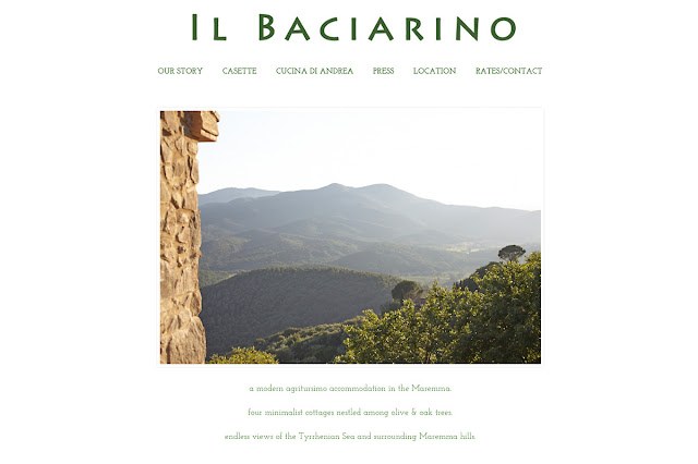Bureau Jules web design shop in San Francisco client: Il Baciarino