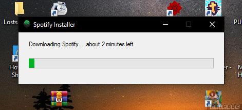 install aplikasi spotify pc