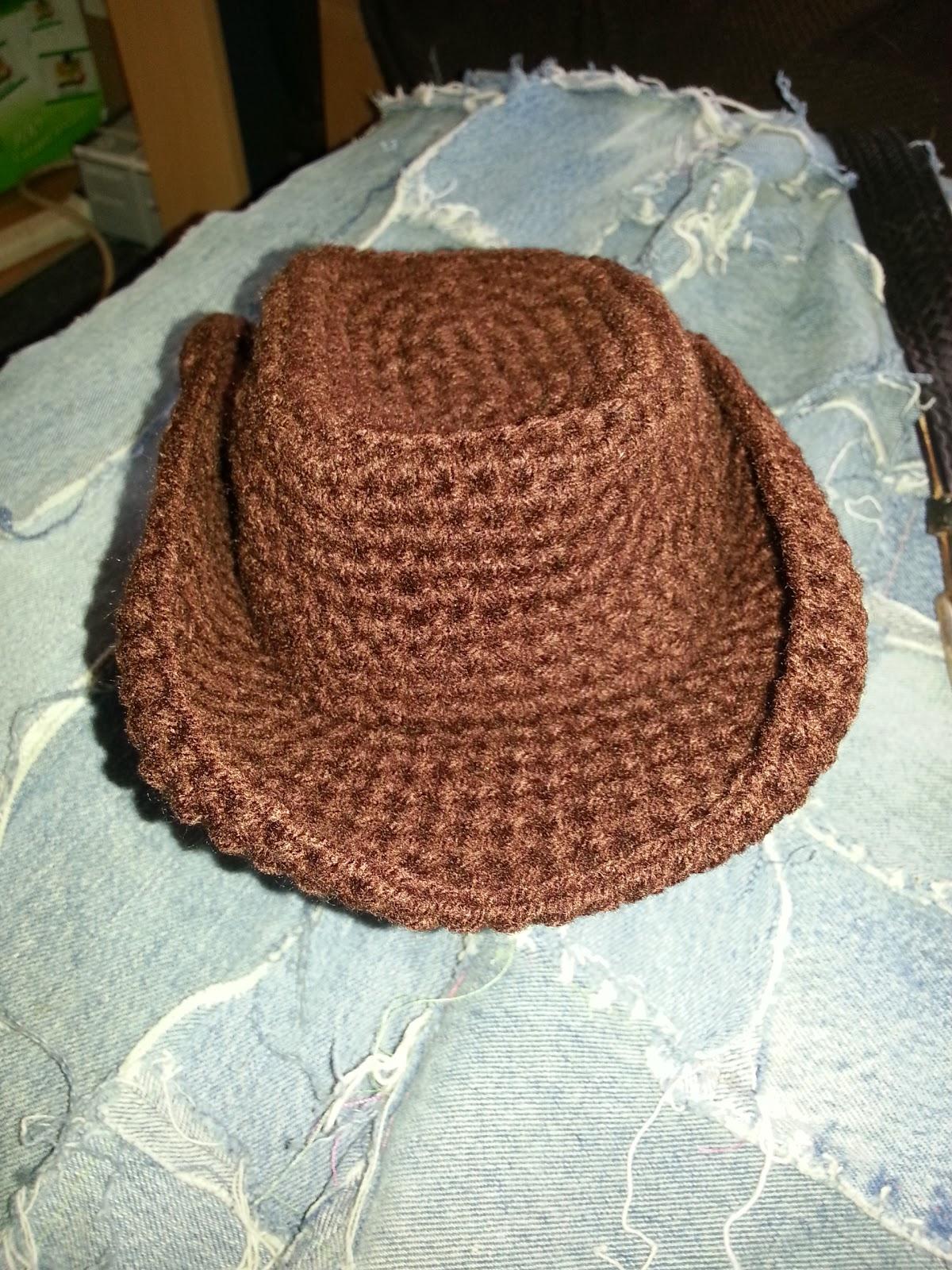 cowboy hat crochet sombrero vaquero pattern # 22