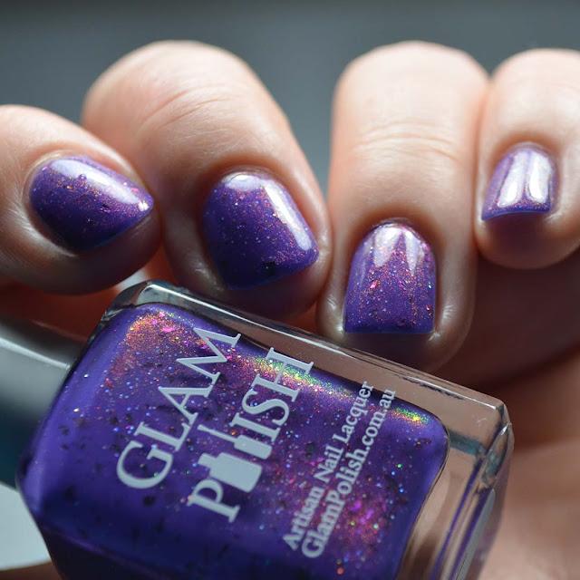 color shifting nail polish swatch