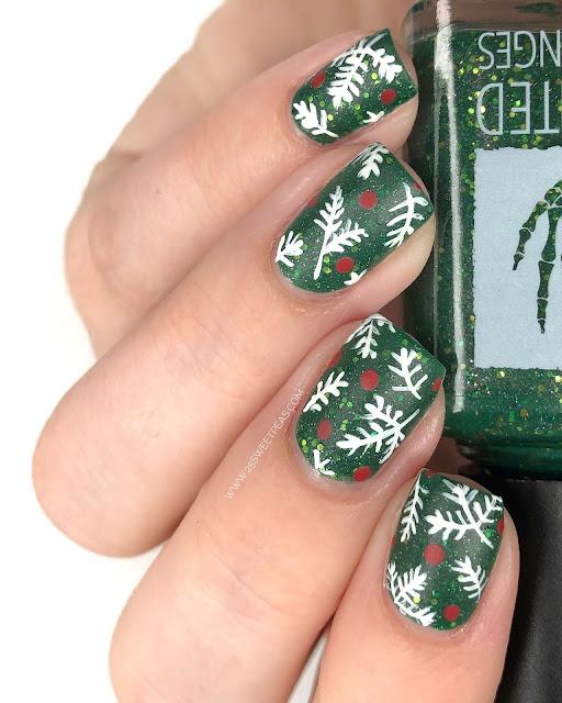 Pine Tree Nail Art