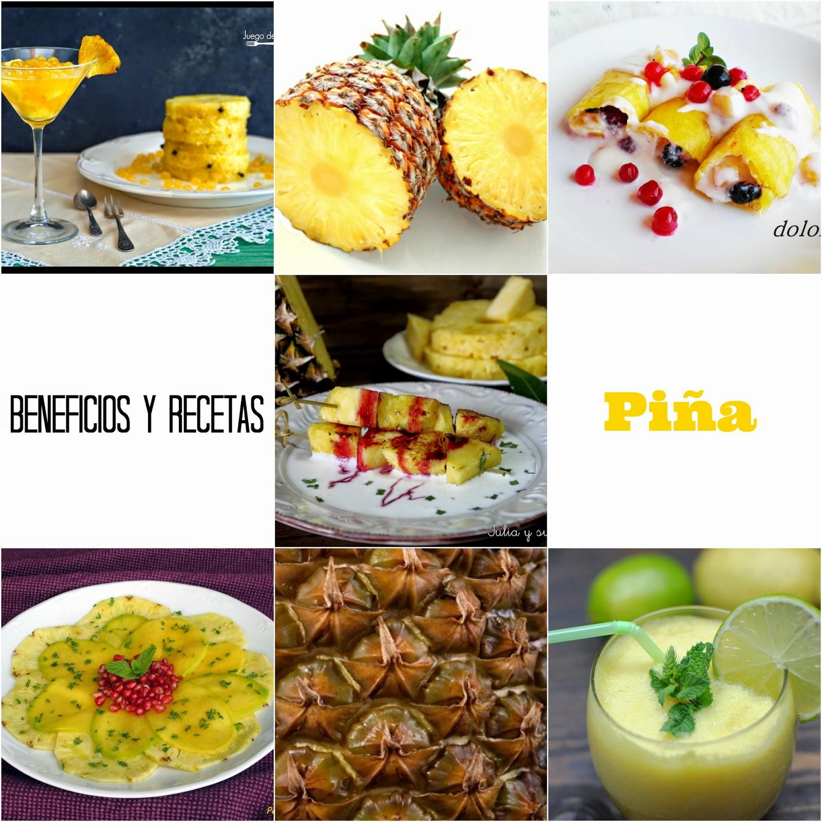 Beneficios de la piña y 5 recetas dulces + Agua de piña