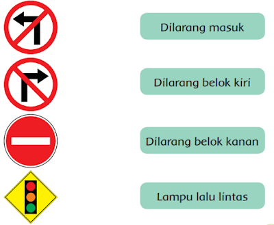 Hubungkan rambu lalu lintas dan artinya www.simplenews.me