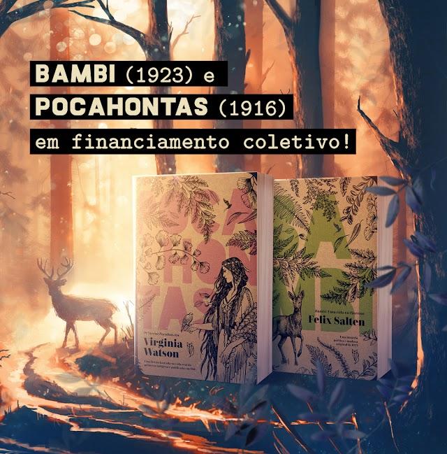 Bambi e Pocahontas em edição eco-friendly, apoie o projeto!