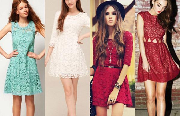 Modelos de vestidos de renda para o verão 2015