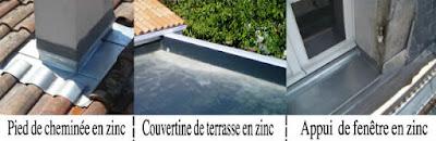 ZINC DE COUVERTURE DE TOIT