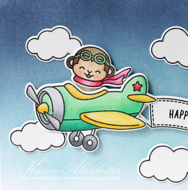 Sunny Studio Stamps: Plane Awesome Birthday Card by Karin Åkesdotter