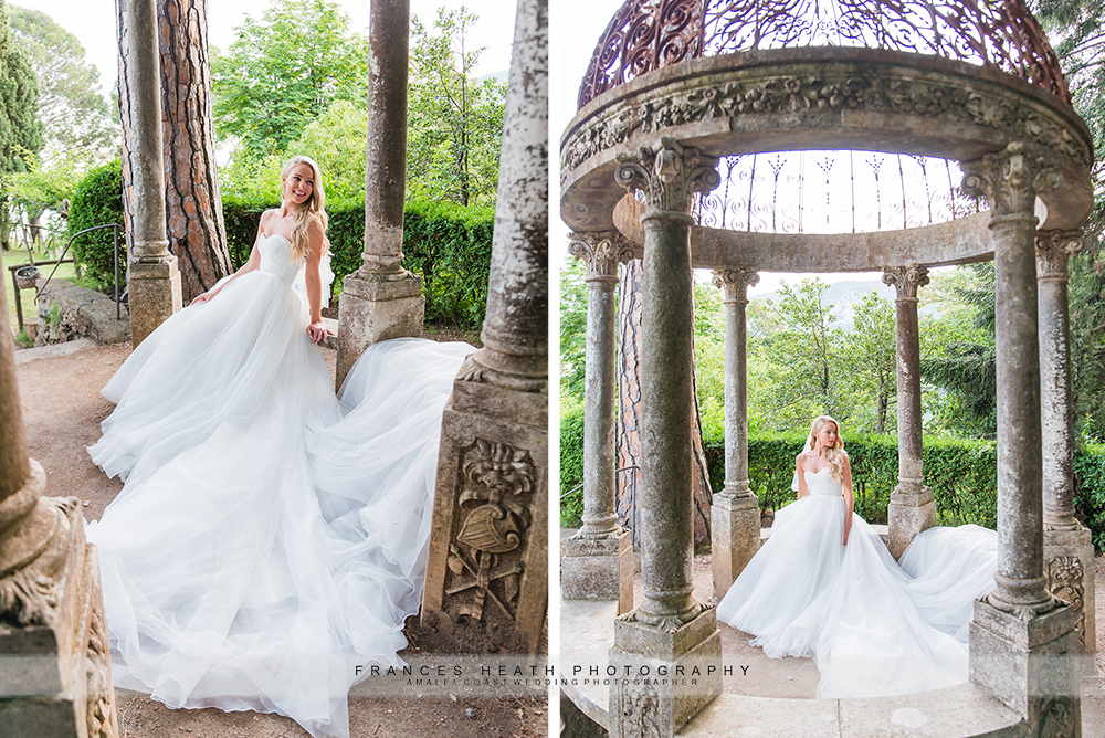 Bride portaits at Villa Cimbrone