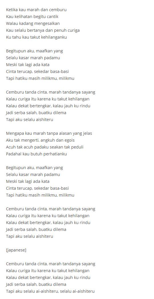 Lirik Lagu Aishiteru 3 : lirik, aishiteru, Download, Aishiteru, Cover