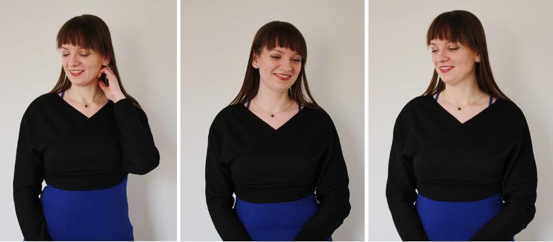 Femme Luxe black crop top