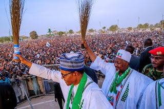 Muhammadu Buhari at campaign rally in Jigawa