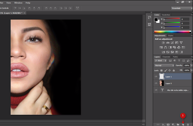 Cara Membuat Text Portrait Pada Wajah (Typography) 9