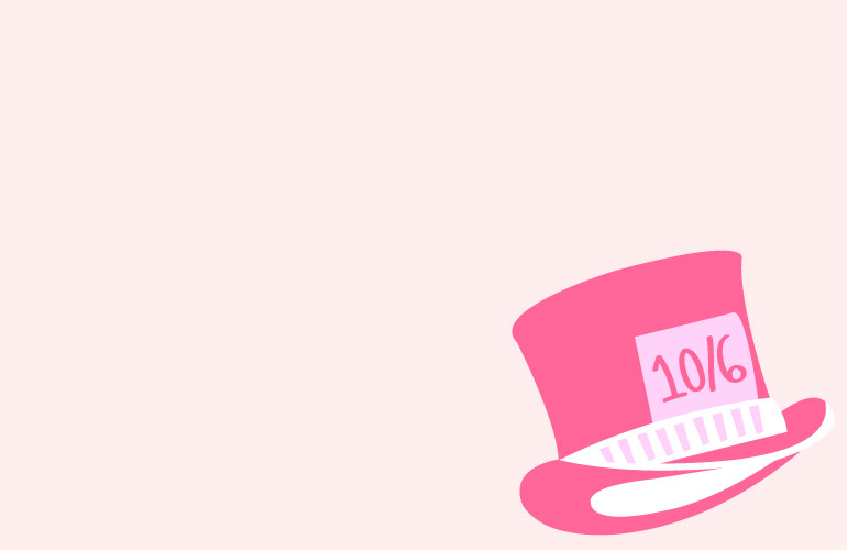 alice in wonderland mad hatter hat drawing