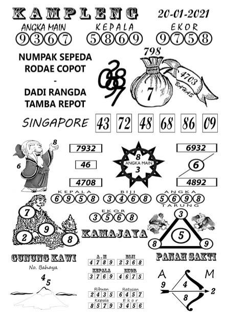 Kampleng SGP Rabu 20-Jan-2021