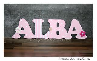 letras de madera infantiles para pared Alba babydelicatessen