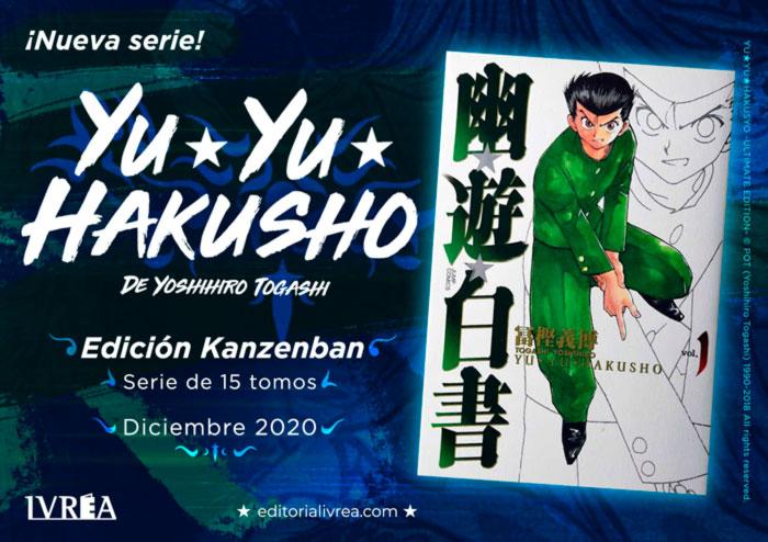 Yu Yu Hakusho manga - Yoshihiro Togashi - Ivrea