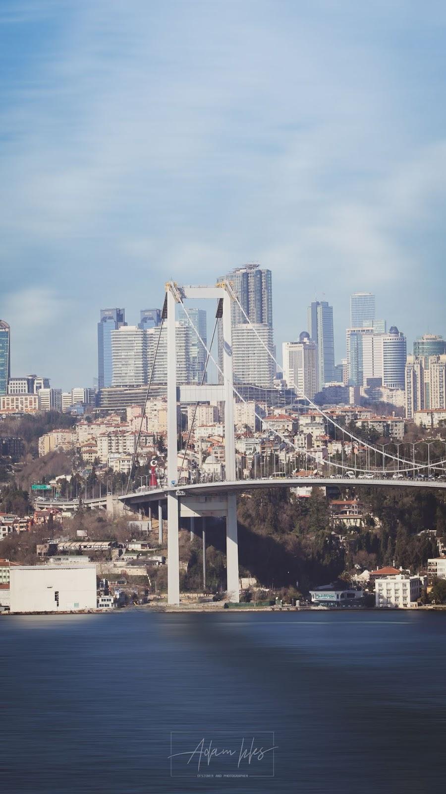 خلفية ايفون 6 7 8 بلس جسر البوسفور اسطنبول اجمل خلفيات ايفون