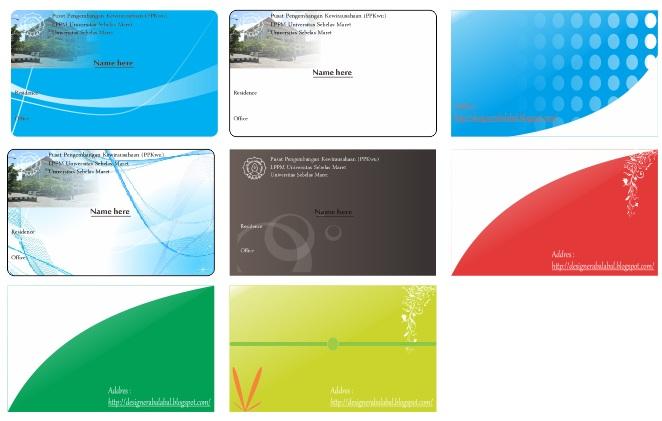 Download 14 Desain Kartu Nama Format Cdr Gratis Free Royalti