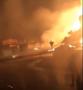 Just In: 2 Die, Over 30 Vehicles Burnt In Lagos Pipeline Explosion This Morning