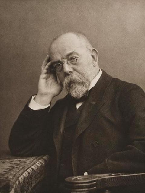 Robert Koch adalah seorang dokter Jerman. Demonstrasi langsung pertama dari peran bakteri dalam membawa penyakit datang oleh studi antraks oleh Koch. Pemenang Hadiah Nobel pada tahun 1905, Robert Koch dikenal sebagai 'Bapak Bakteriologi'.