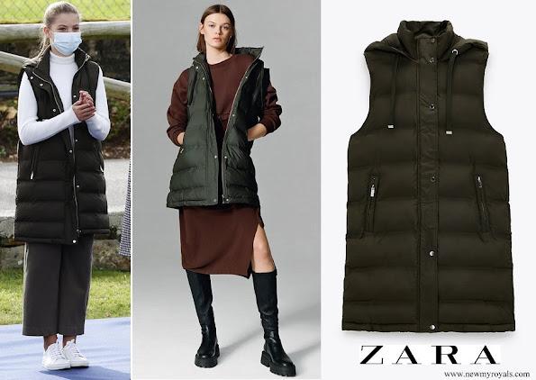 Infanta Sofia wore Zara Khaki puffer gilet