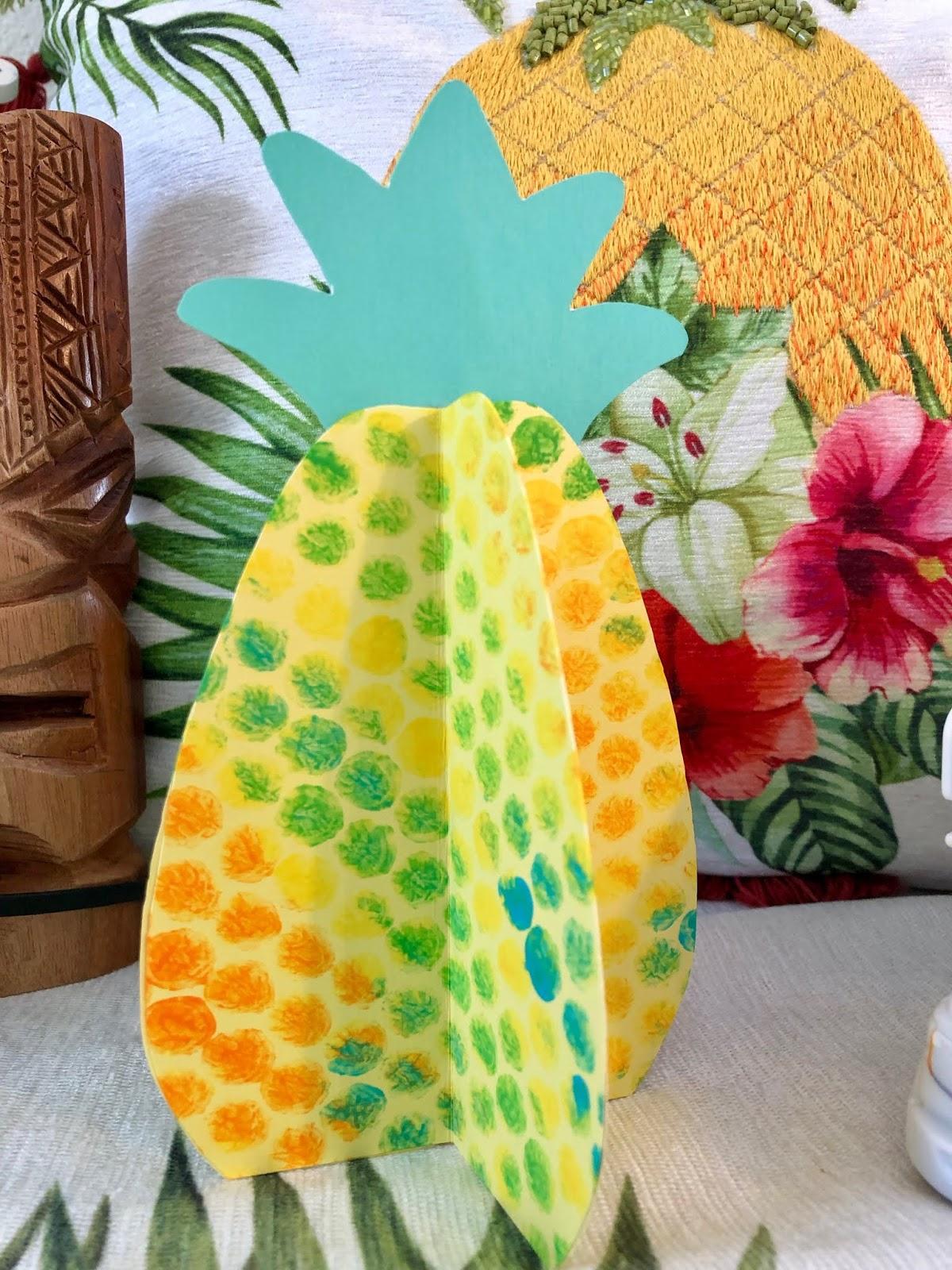 Kathy S Art Project Ideas 3d Bubble Wrap Printed Pineapple