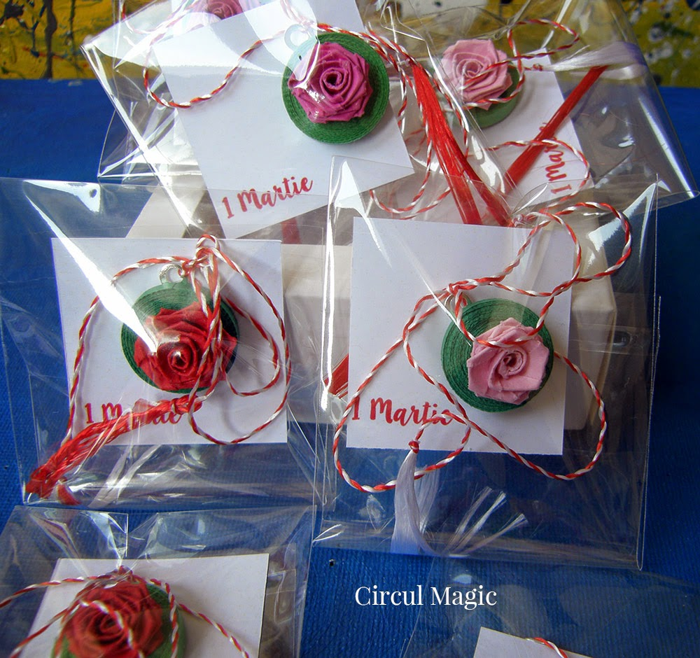 Martisor trandafir Circul Magic Quilling Blog