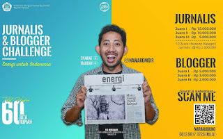 """Lomba Blog dan Karya Tulis Jurnalistik  """"ENERGI UNTUK INDONESIA""""  Tahun 2020"""