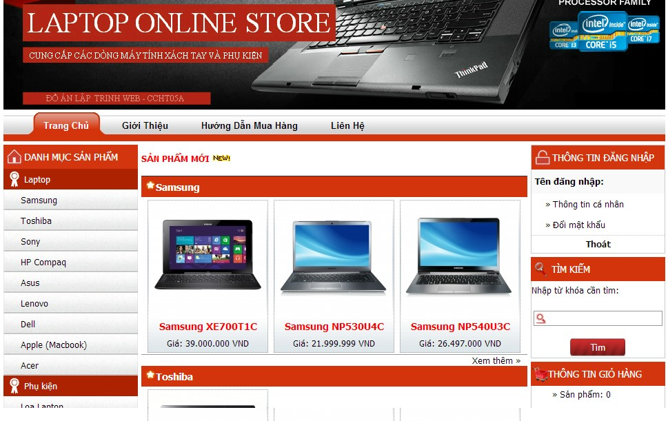 Tải Source Code PHP Đồ Án Website Bán Laptop Chuyên Nghiệp