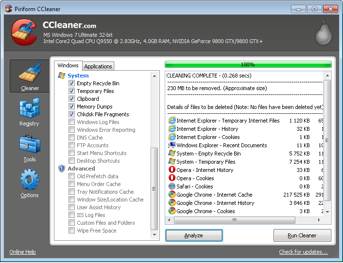 Download CCleaner 3.23 untuk Windows