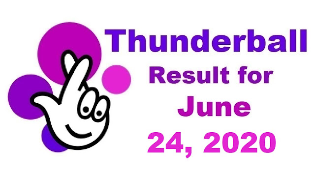 Thunderball Results for Wednesday, June 24, 2020