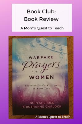 book cover of Warfare Prayers for Women