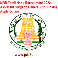 MRB Tamil Nadu Recruitment 2020- Assistant Surgeon General (223 Posts) Apply Online